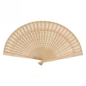 Image 2 - Chinese Japanese Folding Fan Original Wooden Hand Flower Bamboo Pocket Fan for Home Decor Decoracion Fiestas