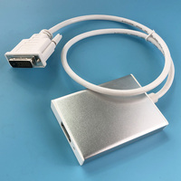 Stereo+USB+DVI to Displayport audio&video converter adapter DVI in to Displayport out