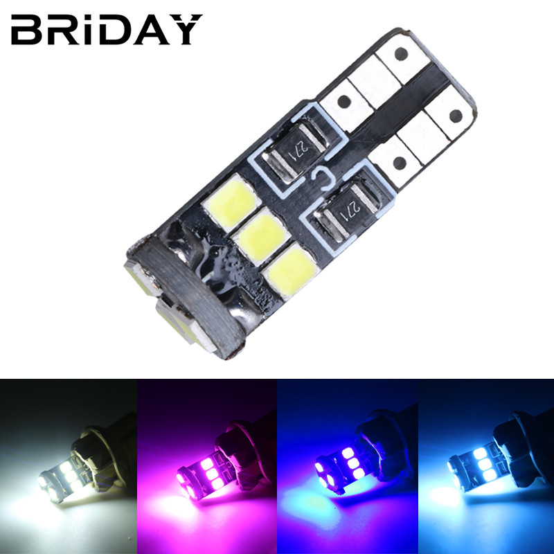 1PC T10 9smd clearance lights car led Bulbs license plate lamp Car-Stylingdome lamp signal lights white pink blue ice blue 12v