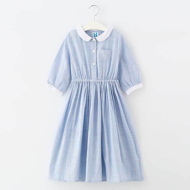 59e594f47296 Kids Summer Dresses For Girls 8 Years Clothes 2018 Teenagers Clothes Teens  Plaid Long Preppy A Line Dress For 10 12year old Girl