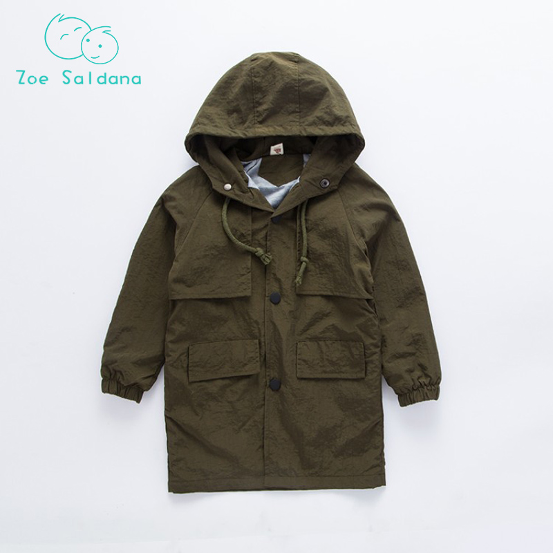 Spring Autumn Boy Casual Solid Outerwear Windbreaker Baby Boy Clothes   Trench   Coat