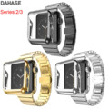 DAHASE Schmetterling Schnalle Edelstahl Link Armband Armband für Apple Uhr Serie 3/2 Band Gold Plating Abdeckungsfall 42mm 38mm|strap for apple watch|butterfly bucklestrap for -