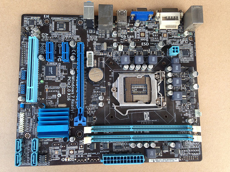 ФОТО Free shipping original motherboard for P8H61-M PLUS boards DDR3 LGA 1155 VGA DVI 16GB H61 Desktop motherboard