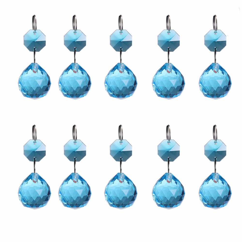 5pcs Royal Blue Beauty Chandeliers Pendants 20MM Wedding Lighting ...