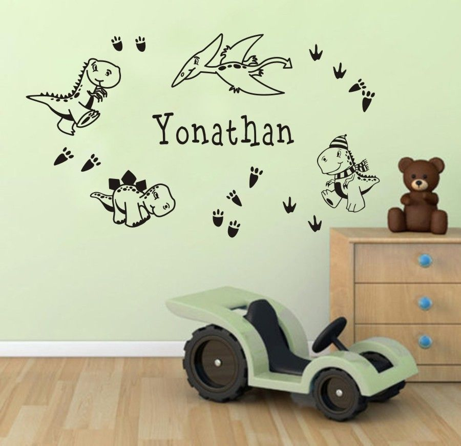 Dinosaur Wall Stickers Cartoon Sticker Customer Made Any Name With - Promotional custom vinyl stickers australia