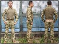 Emerson Gen2 Combat Uniform Set Military Combat Shirt & Pants with knee pad & elbow pad A Tacs FG Camo EM6922