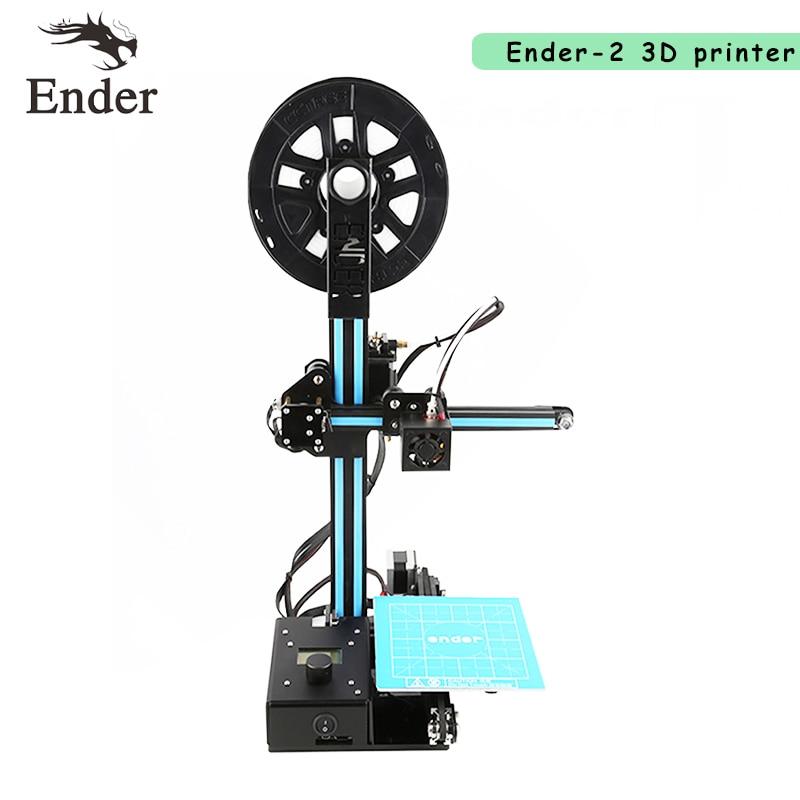 Printer 3D Ender-2 Reprap prusa i3 Full metal frame Mini Creality Desktop 3D printer DIY Kit Machine n 5M Filament +8G SD card 2017 newest ender 2 3d printer diy kit mini printer 3d machine reprap prusa i3 tarantula 3d printer 3d with filament a6 a8