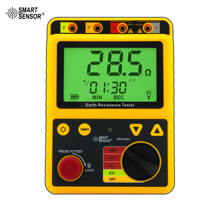 Smart Sensor AR4105A Digital Earth Ground Resistance Meter Tester Range 0-200 Ohm 2/3Lines earth 2 society vol 4 life after death