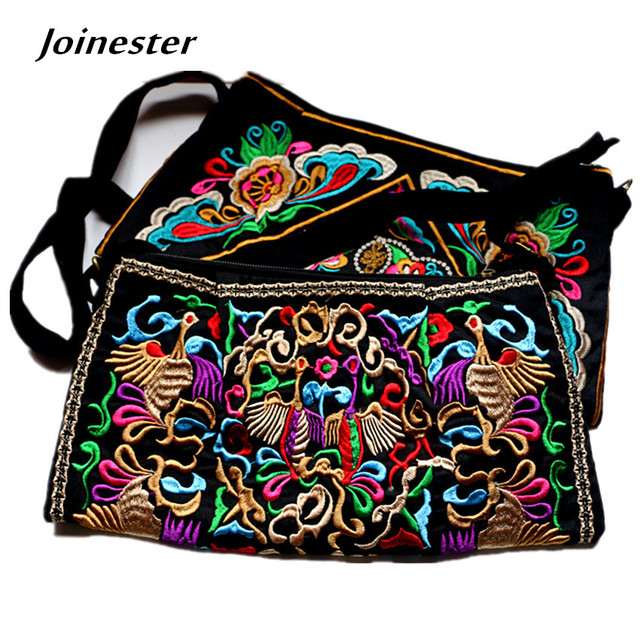 654b08c38c87 Chinese Traditional Floral Embroidery Crossbody Bag Women s Ethnic Style  Canvas Casual Vintage Shoulder Bag Girls Messenger Bag