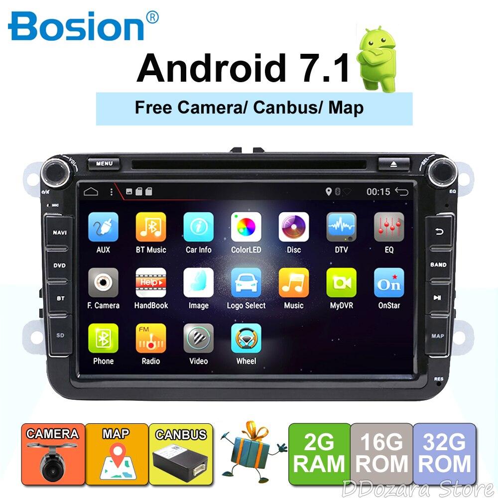 Multimídia de carro para VW GOLF CARRO DVD para PASSAT B6 B5 POLO JETTA CC TIGUAN OCTAVIA CARRO DVD ANDROID WI-FI 8 polegada Android 7.1