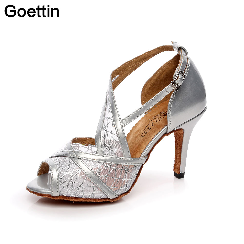 Silver Dancing Shoes Ladies