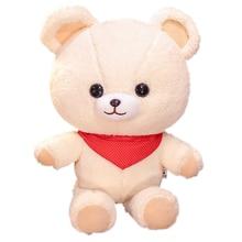 где купить New 1pc Cartoon Bubble Velvet Teddy Bear White Plush Toy Soft Animal Stuffed Doll With Scarf Birthday Kawaii Gift For Child Girl по лучшей цене