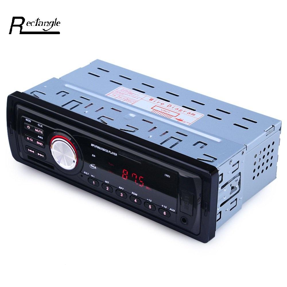 Prix pour 12 V De Voiture Radio Audio Stéréo Lecteur MP3 Transmetteur FM de Soutien FM USB/SD/MMC Lecteur de Carte 1 DIN Au Tableau de Bord De Voiture électronique