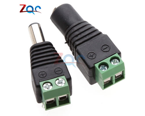 5 X Male + 5 X Female 2.1x5.5mm DC Power Cable Jack Adapter Connector Plug Led Strip CCTV Camera Use 12V
