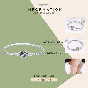 Image 3 - WOSTU Genuine 925 Sterling Silver Tree of Life Charm Bracelet & Bangle For Women Fit Original Brand DIY Beads Jewelry CQB066