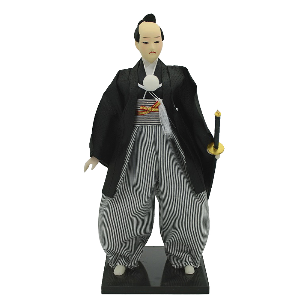 30cm Post-Modern Japanese Samurai Ninja Male Doll Oriental Desk Ornament