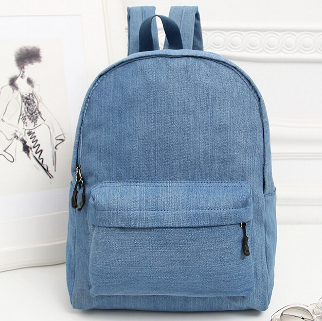 NEW Duable Denim Backpack Solid Color Student School Bags Leisure Travel Backpack Laptop Book Bag Mochila Bolso For Teenager new gravity falls backpack casual backpacks teenagers school bag men women s student school bags travel shoulder bag laptop bags