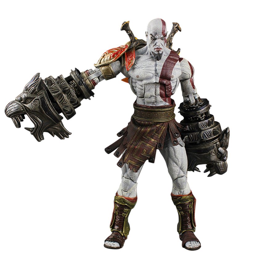 22cm God of War 3 Sparta Kratos Action Figures PVC Toys Collectible Modeal Doll Toys For Children Adult With Box