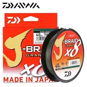 Image 1 - Nouveau J BRAID DAIWA Original grande ligne de pêche 135M 270M 8 brins tressé PE ligne matériel de pêche 18 20 25 30 35LB fabriqué au japon