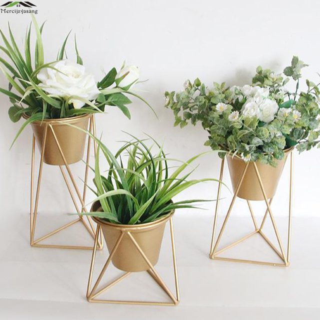 Nordic Wrought Iron Vases Table Metal Vase Plant Dried Floral Holder