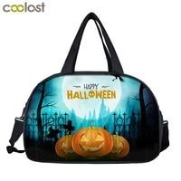 Cartoon Carry on Luggage Travel Bag for Suit Happy Halloween Women Duffel Bag Crazy Pumpkin weekend bag vrouwen Men Travel Bags