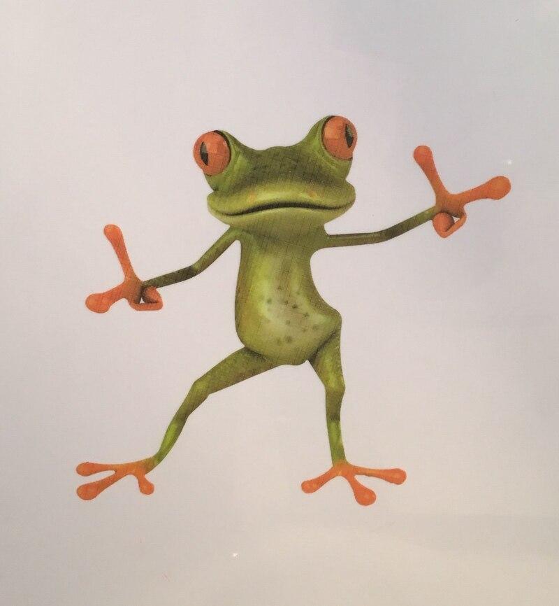 Bathroom Toilet Seat Sticker Novelty Animal Frog Toilet