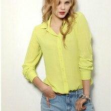 5 Colors Work Wear 2019 Women Shirt Chiffon Blusas Femininas Tops Elegant Ladies Formal Office Blouse