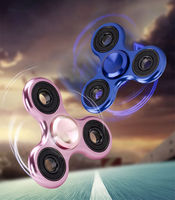 Tri Fidget Glowing Hand Spinner Ceramic Ball EDC Desk Focus Toy For Kids And Adults Color random delivery