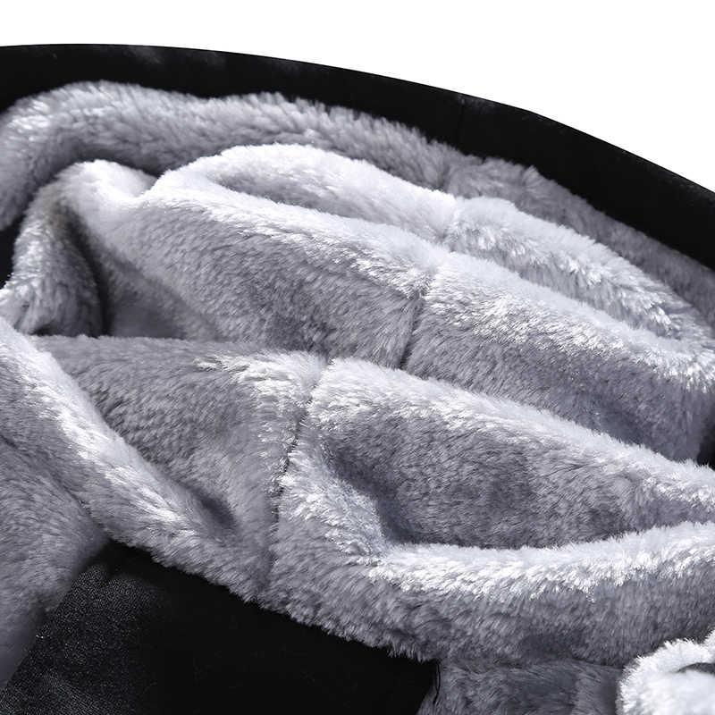 Ropa deportiva para hombre Casual invierno cálido chándal con capucha para hombre conjunto de dos piezas con capucha 2 piezas chaqueta gruesa de lana + Pantalones macho 4XL