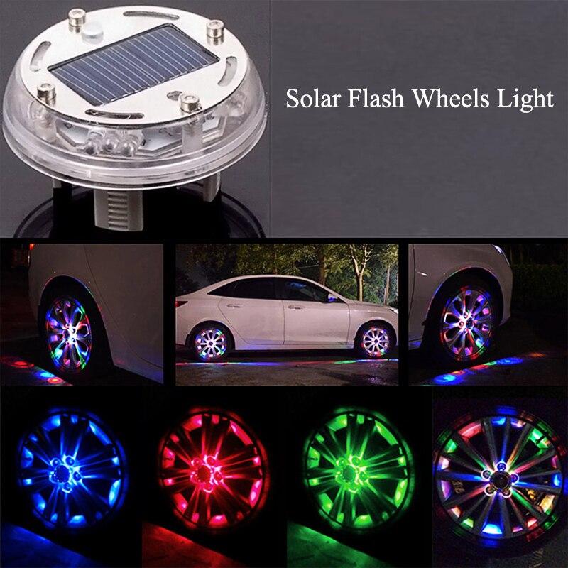 Taitian 1pcs 4 Modles 12 LED RGB Solar Flash Wheels Light ...
