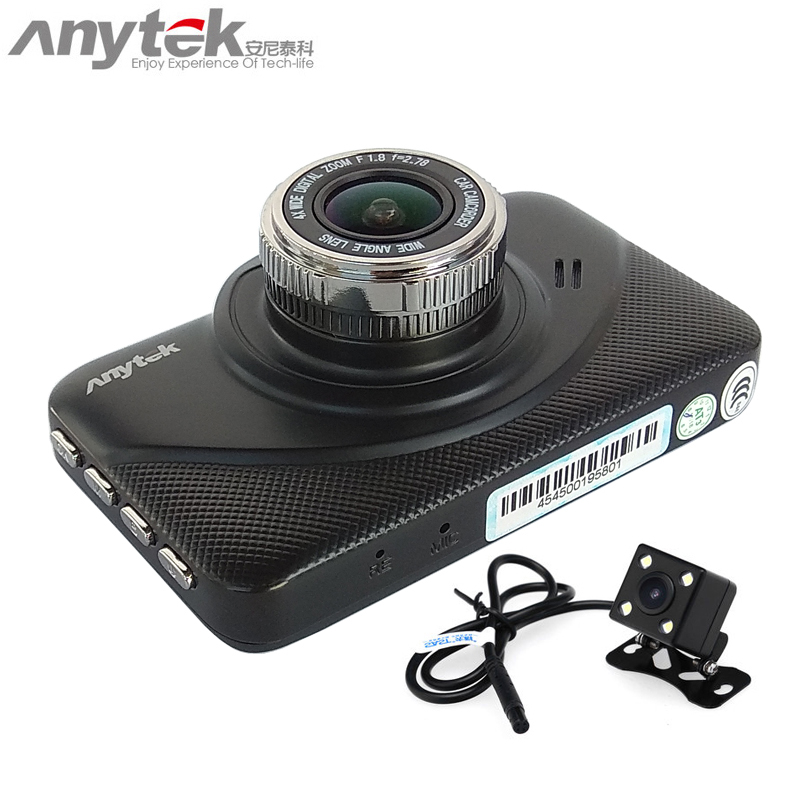 2018 original anytek x18+ car dvr novatek 96655 car camera dual lens 1080P full hd dash cam video recorder registrar