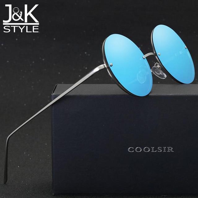 25d10c6f69 Sin montura de Metal marco redondo retro gafas de Sol 2017 de Moda de  Verano para