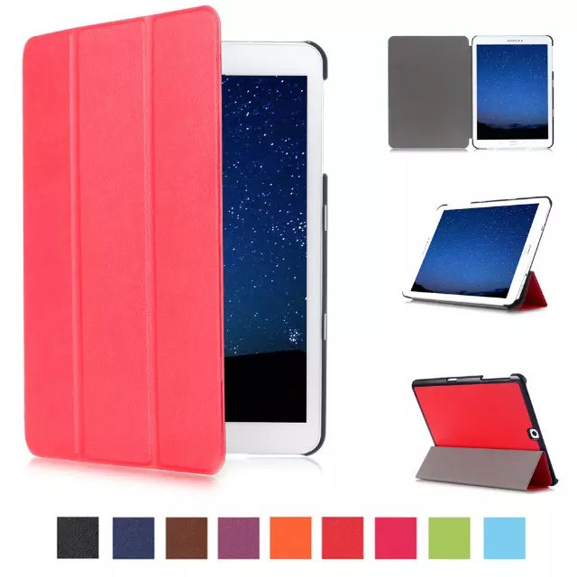 Ultra Slim Flip Cover Tablet Custer Folio Stand Leather Case For Samsung Galaxy Tab S2 9.7 T810 T815 T813 T819 Protective Shell
