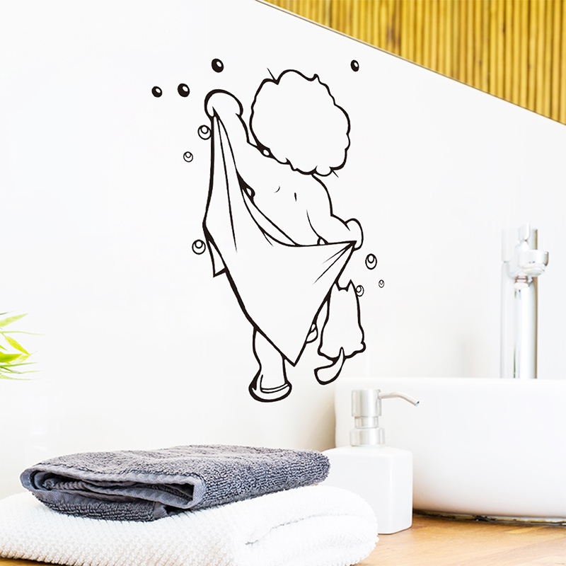 Zy8217 New Waterproof Children S Room Bathroom Carved Handmade Wall Stickers Can Be Removed In From Home Garden On Aliexpress Alibaba