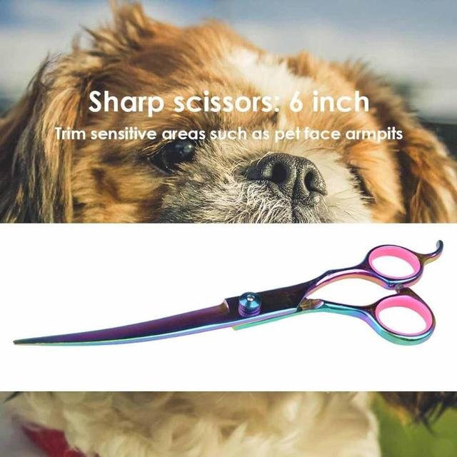 Pet Dogs Hair Scissors Puppy Cat Grooming Hairdressing Cutting Beauty Tools Pet Dog Cat Scissors Kits Hair Trimmer Products 3