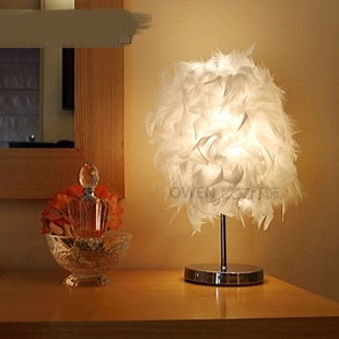 decorative lamp feather Creative gift feather Table Lamps bedroom bedside lamp light Table lights ZL337|table light|feather table lamp|table lamp - title=