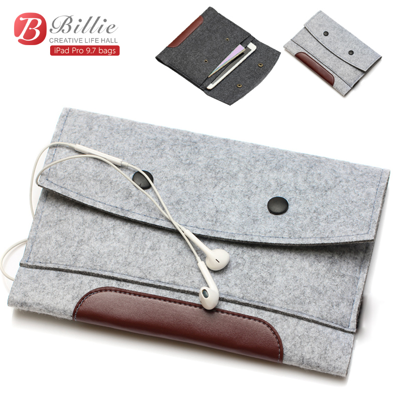 High quality Wool Felt bags For Apple iPad Pro 9.7 Tablet Case Sleeve For Pro 9.7 inch Anti-scratch Shockproof  Wholesales wool felt cowboy hat stetson coffee