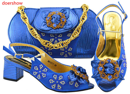 doershow fashion blue color Italian Shoes With Matching Bag High Quality Italy Shoe And Bag set For wedding and party!BF1-37doershow fashion blue color Italian Shoes With Matching Bag High Quality Italy Shoe And Bag set For wedding and party!BF1-37