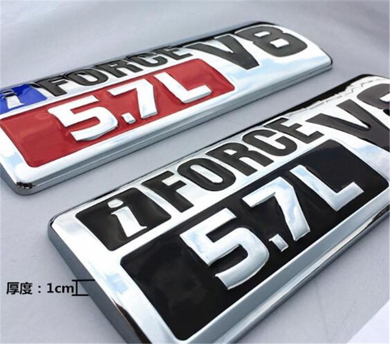 Badge latéral en métal argent noir rouge | i Force V8 5,7l, emblème de garde-boue, Badges adaptés pour Tundra TRD PRO, nouvelle collection 1 pièce