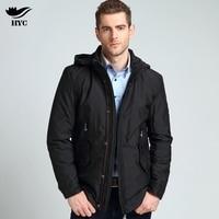 HAI YU CHENG Long Parka Men Jackets Coat Male Luxury Inside Design Mens Long Winter Jackets