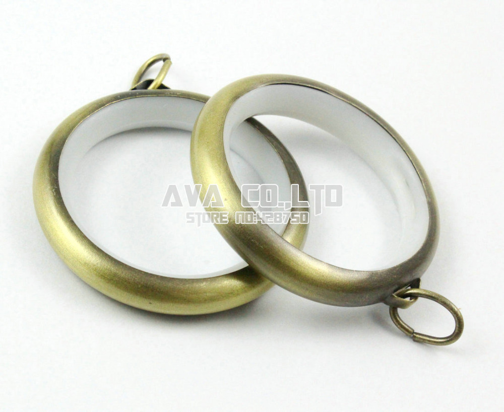 Antique Brass Shower Curtain Rings