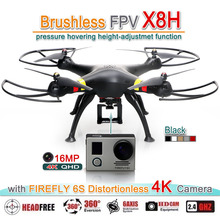 FZWRC X8H brushless motor RC FPV Quadcopter Drone Helicopter upgraded By SYMA X8C W G HW with [FIREFLY 6S] WiFi 16MP 4k Camera