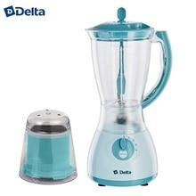 Блендер DELTA DL-7310 с кофемолкой серо-голубой : мощность 350Вт, чаша 1,5л., кофемолка 50 г