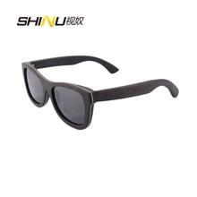 Luxo Óculos De Sol De Madeira de Ébano de Gelo Revestimento de Lente Azul  Espelho Óculos De Sol Óculos Goggle Óculos De Sol Ocul. 4ae780c78e