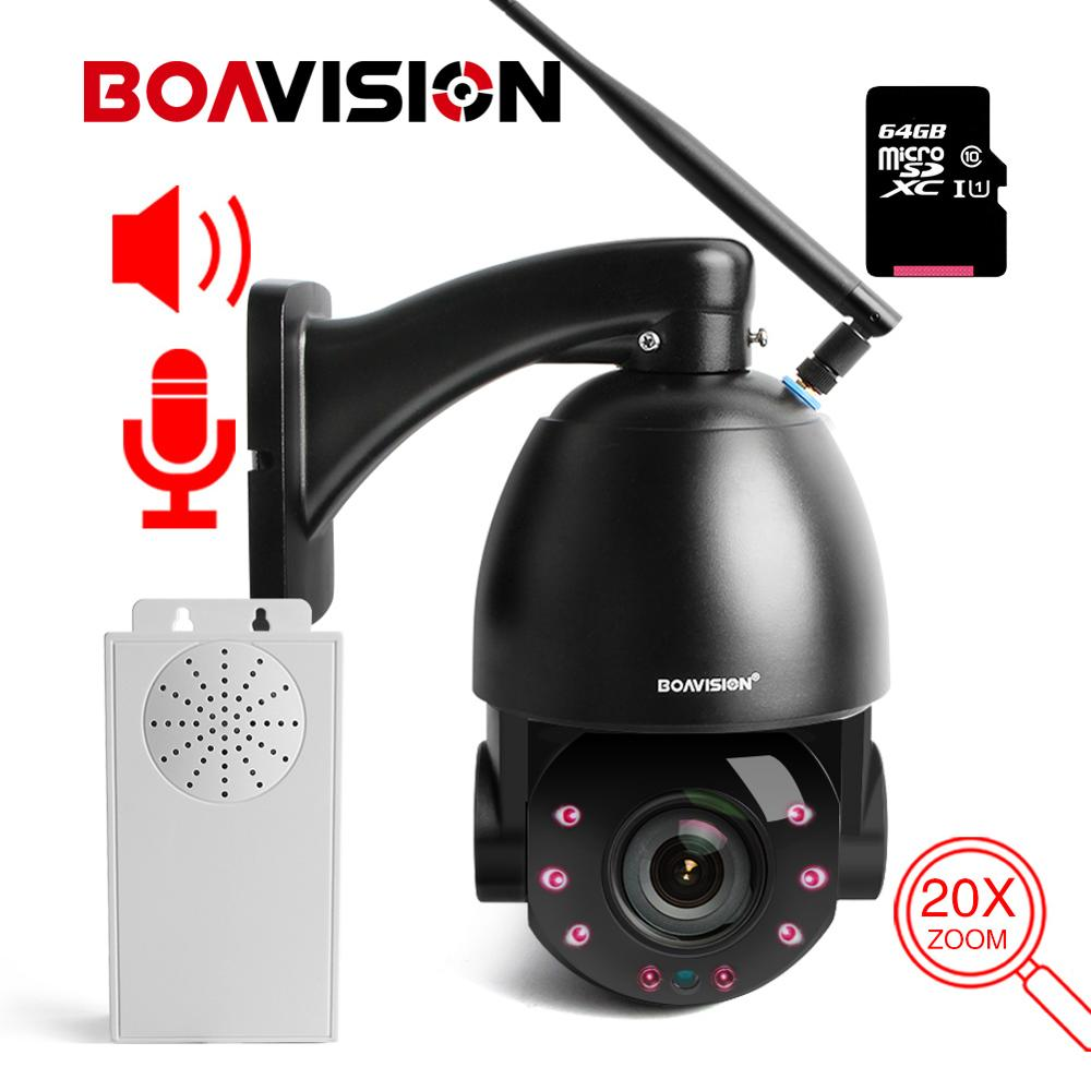 20X Zoom HD 1080P WIFI IP Camera 25fps Realtime PTZ Dome Outdoor Wireless CCTV Camera Two