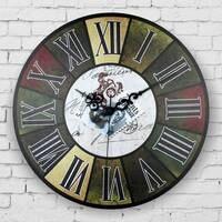 Roman liczba duży zegar ścienny dekoracyjny absolutnie ciche rocznika zegar ścienny dekoracji wnętrz w stylu retro dekoracje ścienne zegarki