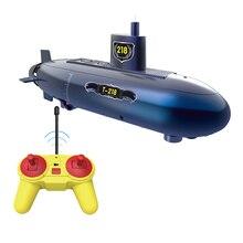 Забавная радиоуправляемая мини подводная лодка 6 каналов дистанционного управления под водой корабль радиоуправляемая лодка модель Детский развивающий ствол игрушка подарок для детей