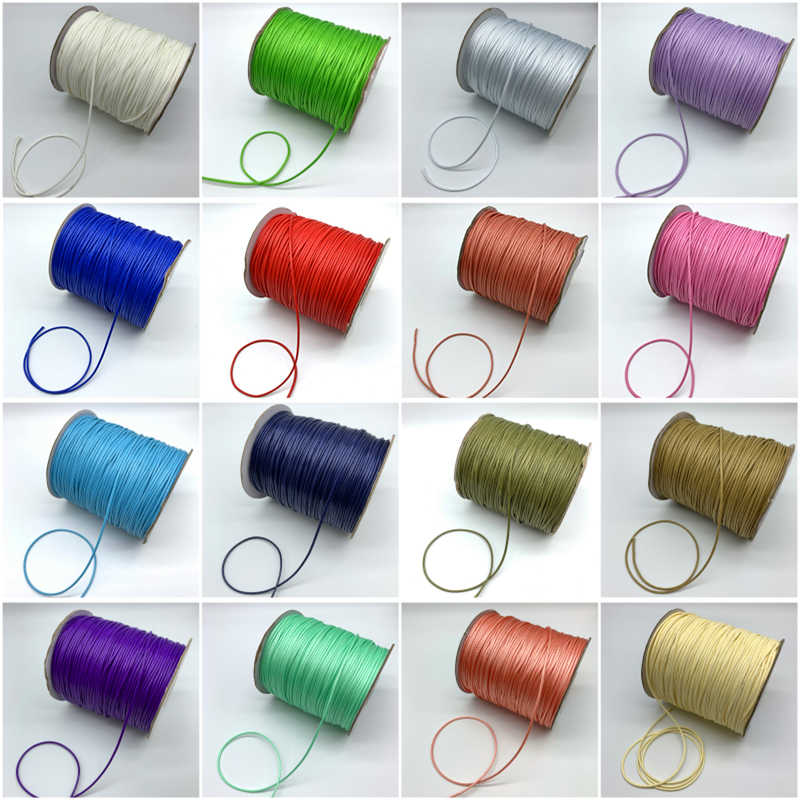 10yards 1.5mm Colorful Waxed Cotton Cord Waxed Thread Cord String Strap Necklace Rope For Jewelry Making For Shamballa Bracelet