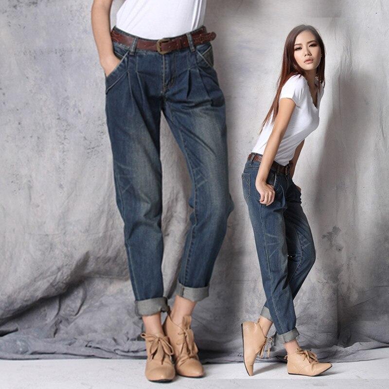 Boyfriend Jeans For Women 2017 Hot Sale Freeshipping -9688