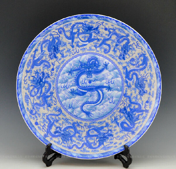 Aliexpress.com : Buy Large size oriental decorative blue and white ...